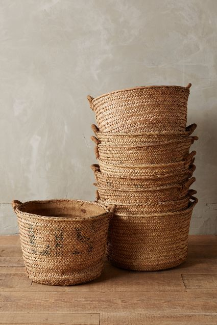 love these harvest baskets #anthrofave #hamptonsdecor