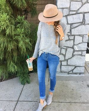 Now that I have sunflowers and eucalyptus on my kitchen table I'm feeling all kinds of Fall feels 😍 Up next my first PSL of the season ! // Speaking of Fall I can't think of a better combo than a simple grey sweater, booties and of course a hat 👌🏼LIke this picture to get all the details in your LTK app! For go to Instagram outfits on my blog! @liketoknow.it #liketkit http://liketk.it/2sCAq