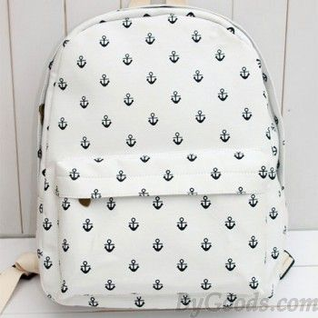 Fashion Navy Anchor Canvas Backpack|Fashion Backpacks - Fashion Bags|ByGoods.com