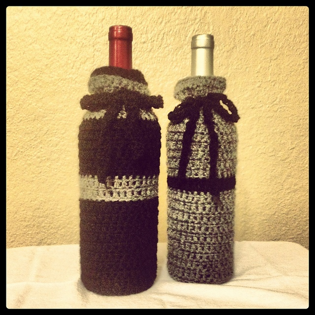 Wine bottle covers, Wine bottles and Dress up on Pinterest