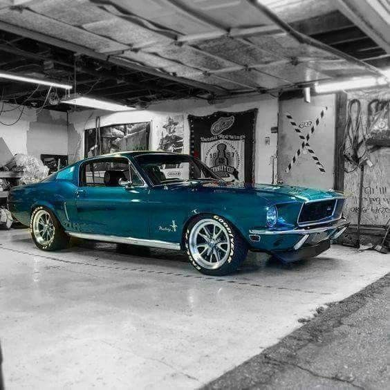 Mustang in blue! #Classic #American #MuscleCar
