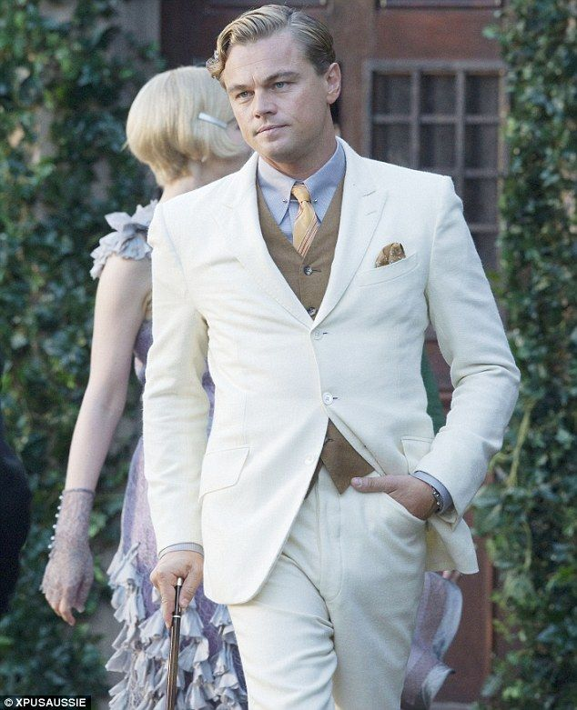 Leo looking dapper as The Great Gatsby