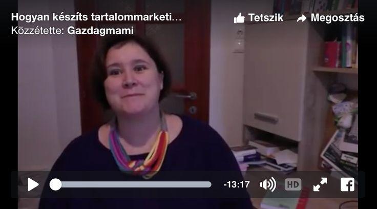 Videóblog: A tartalommarketing terv