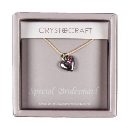 Crystocraft Necklace With Heart Charm Our Special Bridesmaid  Price : £6.49 http://www.bronzebarngallery.com/Crystocraft-Necklace-Heart-Special-Bridesmaid/dp/B00BNA74TG