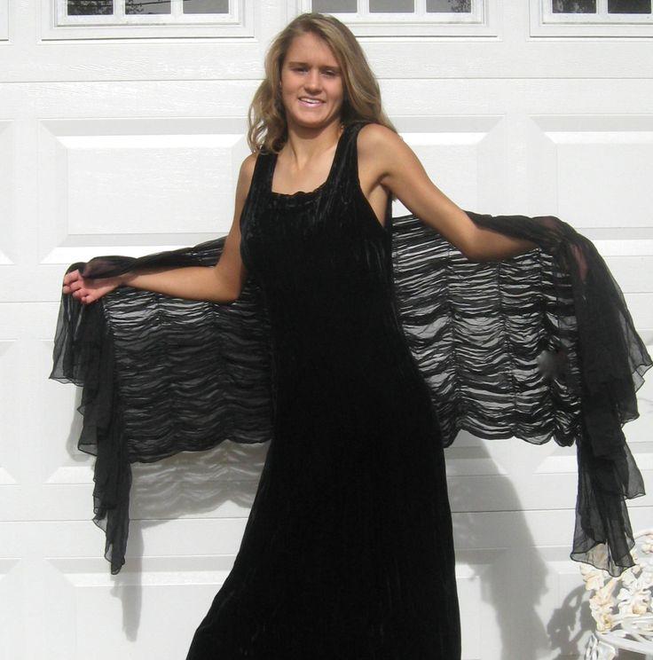 black Velvet Dress . crushed black velvet dress . crushed velvet dress. bombshell dress by vintagous on Etsy