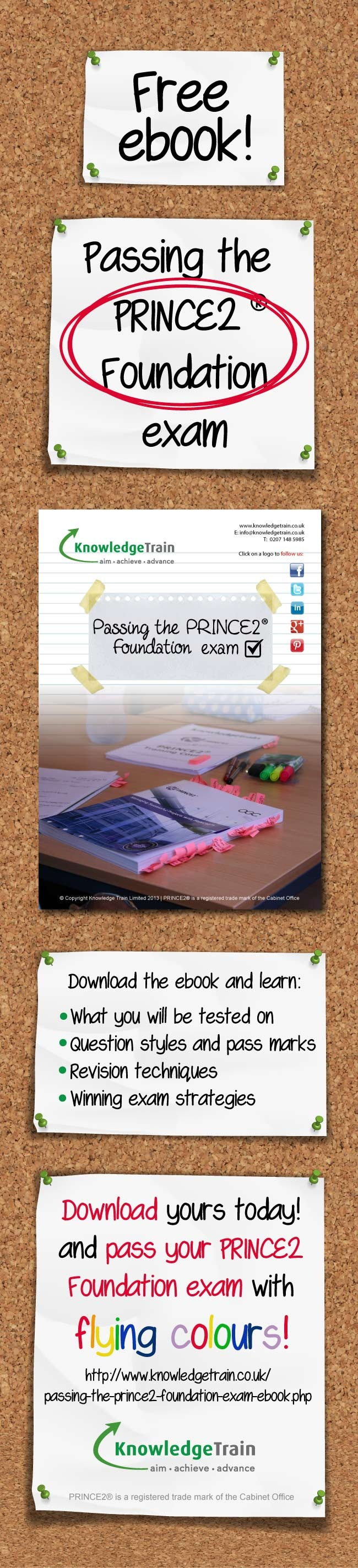 Learn the secrets to passing the PRINCE2 Foundation exam in this free 7 page ebook, written by an experienced PRINCE2 trainer! #prince2 #projectmanagement #ebook #knowledgetrain #prince2exam