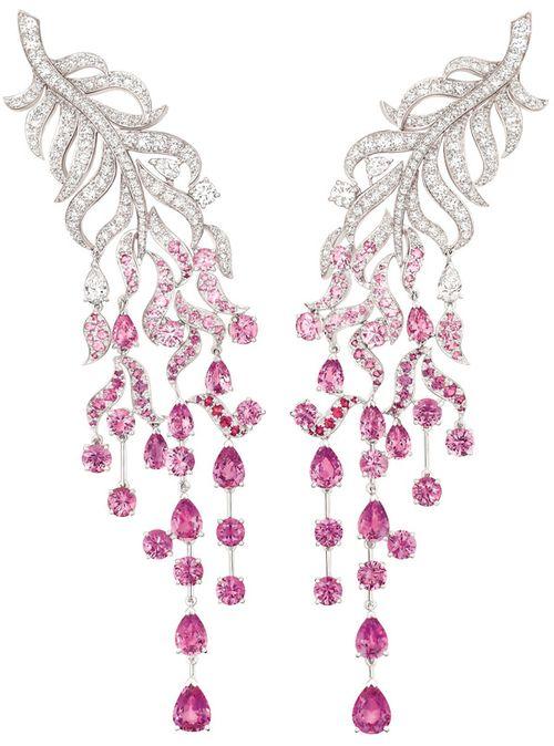 Chanel sapphire earrings