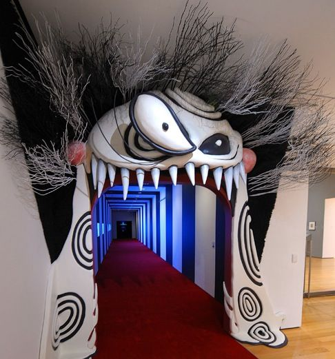 Entrance for the Tim Burton exhibit. So sad i couldn't see this