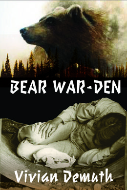 """""""Bear War-den"""" a novel by Vivian Demuth: while an out-of-control fire rages through a national park, a woman park warden, with two grizzly bear skulls in hand, begins a difficult and dream-like journey to the park boundary. """"Bear War-den"""" explores themes of personal and ecological loss, trauma, and of women and non-human animals dealing with oppression within a male-dominated, and often paramilitary-like Parks Management system. $22.95"""