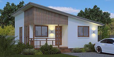 Casa Pequeña 2 dormitorios 59.9 m2 en Los Cabos y planes de construcción en madera piso/