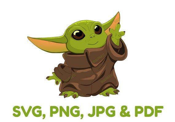 Baby Yoda Svg Printable Bundle Child Mandalorian Baby Svg Etsy In 2021 Yoda Png Star Wars Cartoon Yoda Clipart