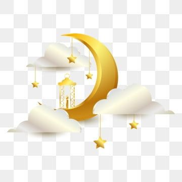 Islamic Golden Crescent Moon Islamic Crescent Moon Png And Vector With Transparent Background For Free Download Ramadan Kareem Crescent Moon Islamic Pattern