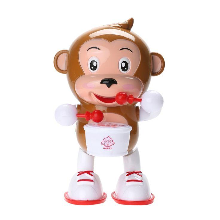 Pet elettrico Denaro LED Lampeggiante Musical Danza Scimmia Giocattolo di Plastica Del Capretto Del Bambino Developmental Giocattolo Per I Bambini Regalo Di Natale