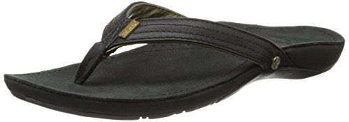 Reef Miss J -Bay, Tongs femme – Blanc Cassé – Blanco (Black / Gold), 40 EU: 25% Recycled Rubber Outsole With Icon Tulip Logo 51% Post…