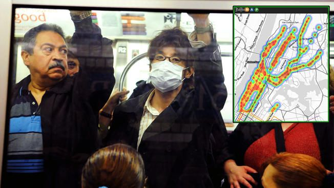 """Researchers have mapped out the particles found across the city's subway system, and they found a range of DNA from mozzarella cheese to the Bubonic plague. The """"PathoMap,"""" created by Weill Cornell Medical College researchers, maps out microbes and pathogens found on hand rails, kiosks, benches, turnstiles and passenger seats. The research team used nylon swabs to collect DNA in 24 subway lines in all five boroughs over a period of 17 months. Researchers say most of the DNA found across the…"""