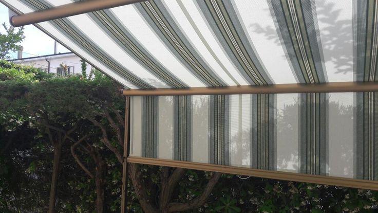 tenda a capanno per giardino interno villetta