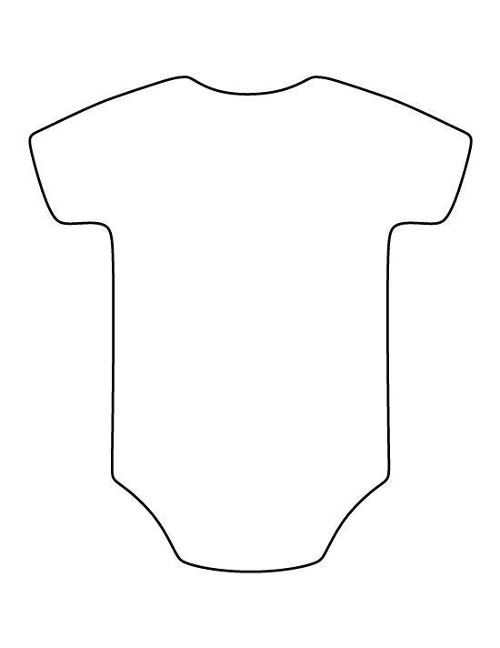 Onesie-Muster. Verwenden Sie den druckbaren Umriss für Handwerk, Kreati …