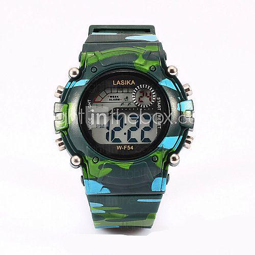 tre orologi digitali a colori, tavolo camuffamento, attività dell'acqua, orologio - USD $8.99