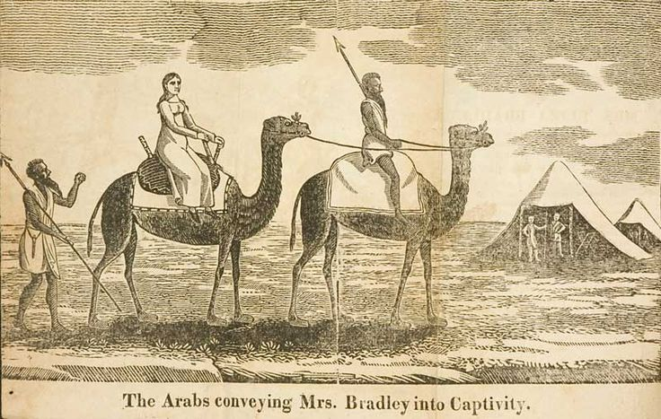 Mrs. Bradley being carried to captivity.