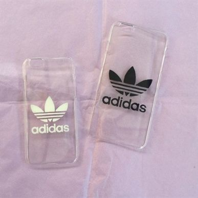 Transparent hard #iPhone cover case with Adidas logo 5 6 by