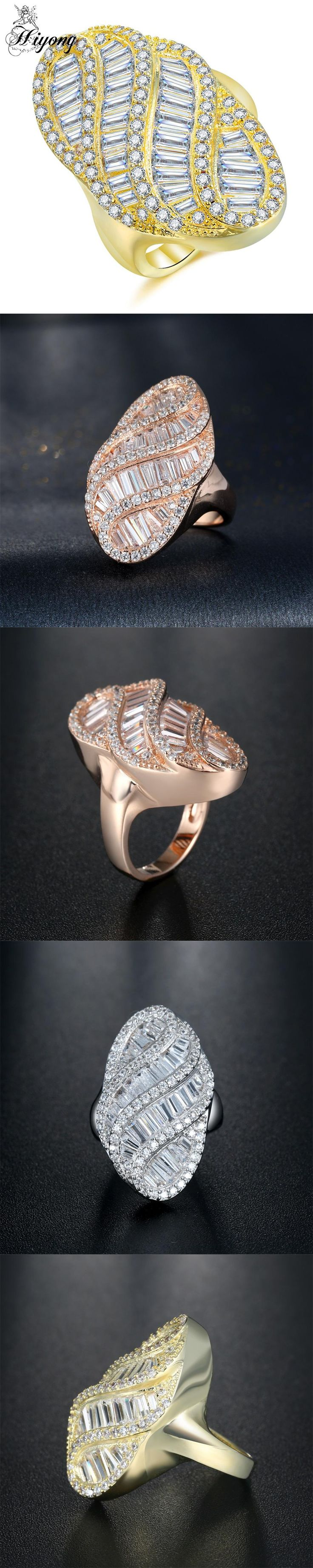 Oval Luxury Ring AAA CZ Three Color Choose Wide Surface Female Elegant Accessory Fashion Wedding Eternity Jewelry Anel Feminino