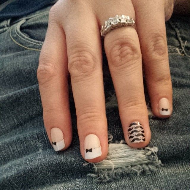 A little something different for me. #FrenchTipBowsJN & #MoMoJN #jamberry #jamicure  #jamberrynails