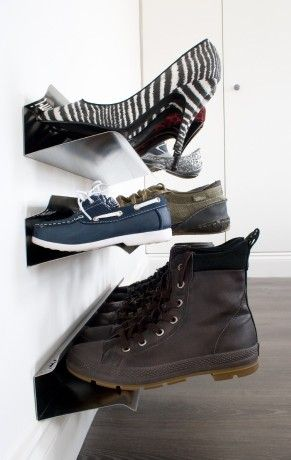 Wall Shoe Rack - wall mounted shoe storage