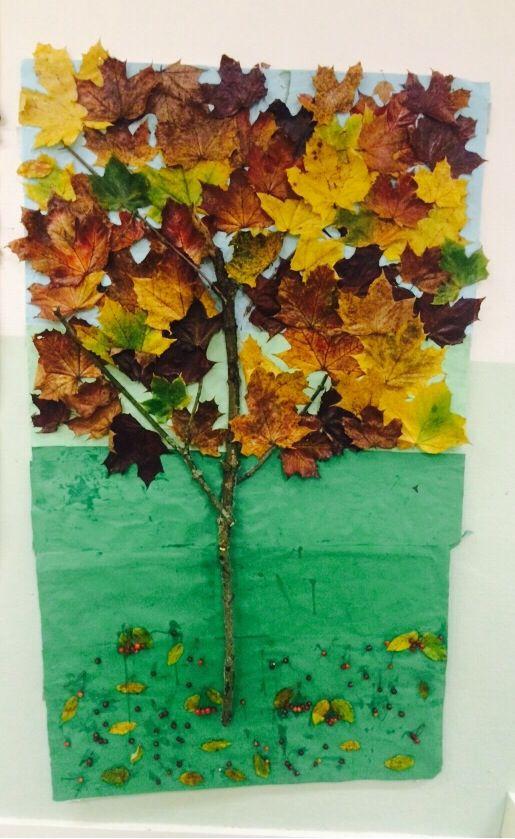 Vårar fina höst träd som mina fantastiskt duktiga treåringar på förskolan gjort!!