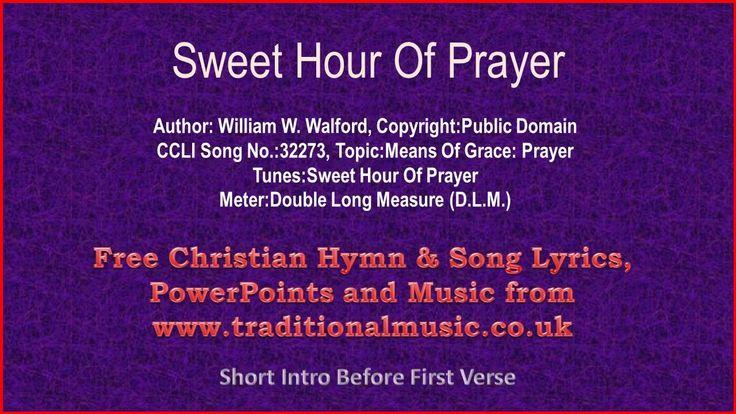 sweet hour of prayer lyrics pdf
