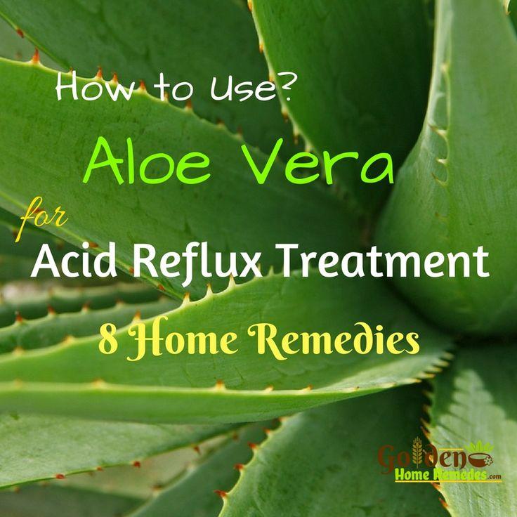 Aloe Vera And Acid Reflux: Acid Reflux Treatment