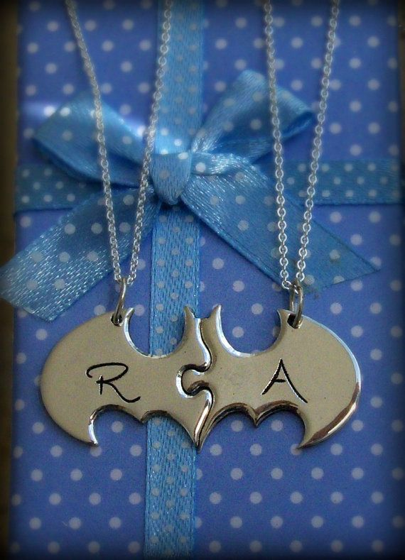 Two Piece Custom Batman Puzzle with Initials by MyBlueTreeDesigns
