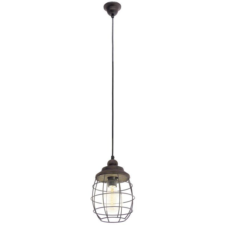 Avem deosebita placere sa va prezentam o lampa vintage care va crea o atmosfera pe masura - lampa metalica suspendata Oslo. Lampa este realizata din metal, are culoarea maro si un finisaj antichizat. Forma sfeerica a lampi este data de abajurul metalic care are forma unui grilaj de protectie.