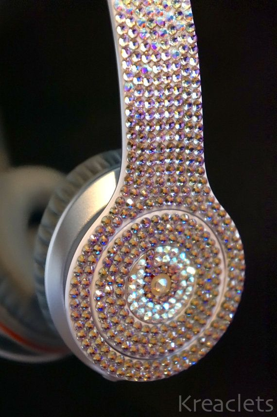 Swarovski Crystal - Beats by Dre Solo - White (New and Authentic) on Etsy, $479.99