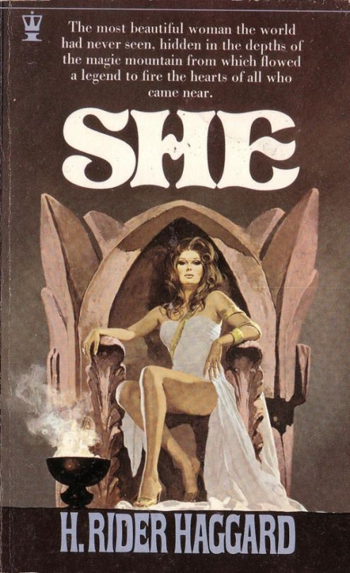 She by H. Rider Haggard. Hodder Paperbacks 1971. Cover artist unknown  maybe Gino D'Achille