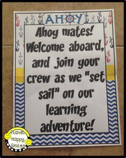 Nautical Classroom Decor ~ Planet Happy Smiles