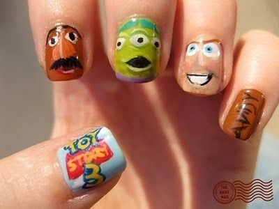Oh My Gosh! Toy Story nails! My kids would love these!!