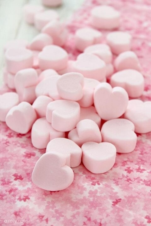 Have a pink marshmallow heart!