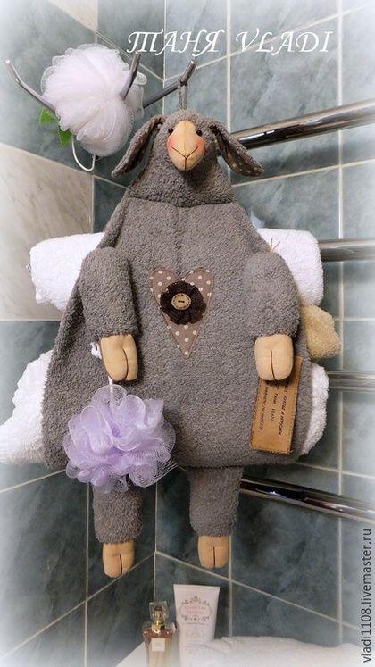 Ванная комната ручной работы. Банная ОВЦА  серая  (хранение полотенец). ТАНЯ VLADI. Интернет-магазин Ярмарка Мастеров. овечка