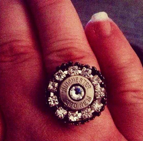 Creative idea a ring made from a shotgun shell