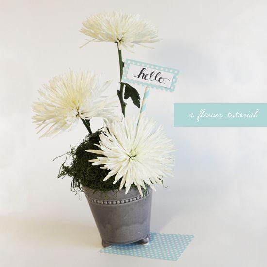 flower makeover: simple summer flower centerpieces