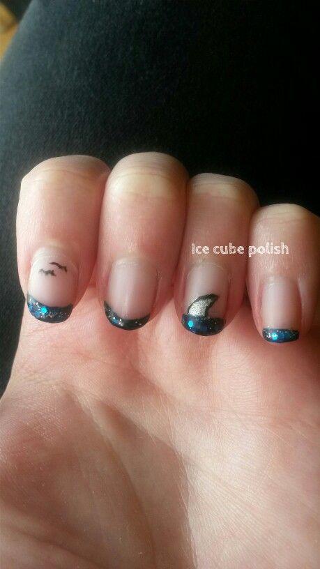 Shark nail art                                                                                                                                                                                 More