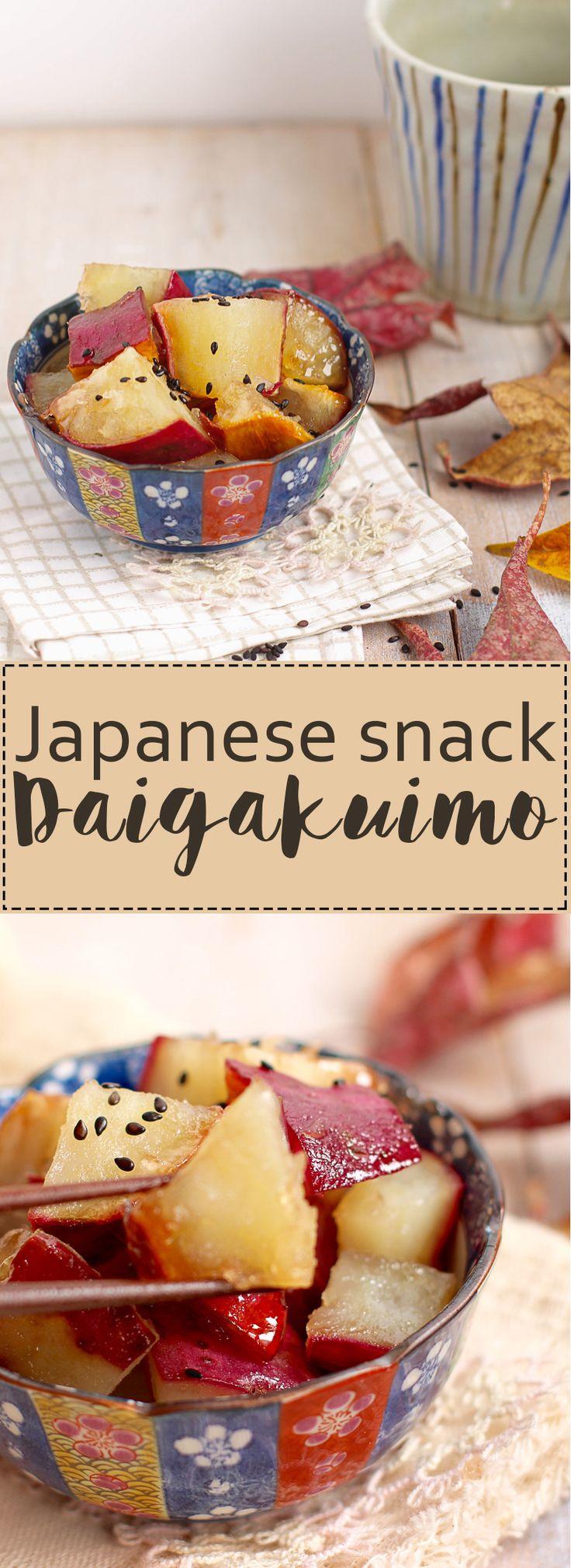 Japanese healthy snack: sweet potato bite