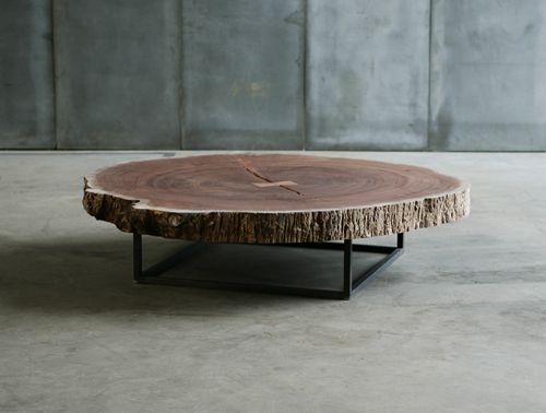 Tree slice coffee table sold by usona furniture pinterest for Table jardin beauty