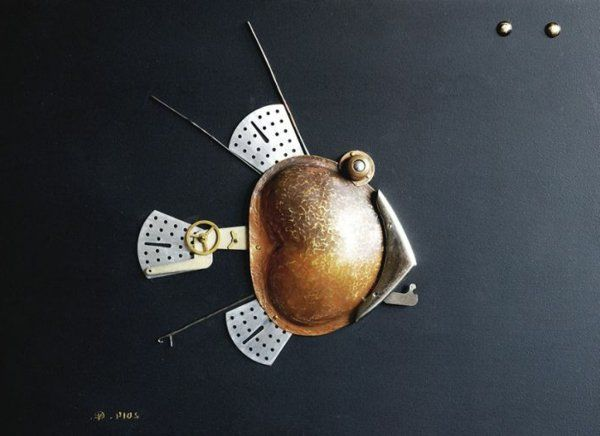 altmetall kunstwerk fisch