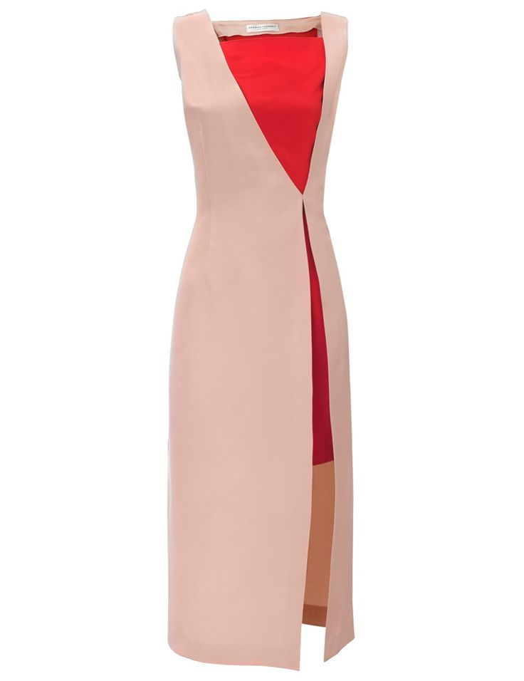 Two Tone Cady Slit Dress | Barbara Casasola | Avenue32