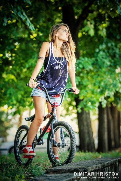 BMX Girl Portrait               ::               54ka              action alone background beautiful Beauty bicycle bike bmx bycicle camera casual cheerful city clothing culture cycling EYEs eyewear Fashion feeling female