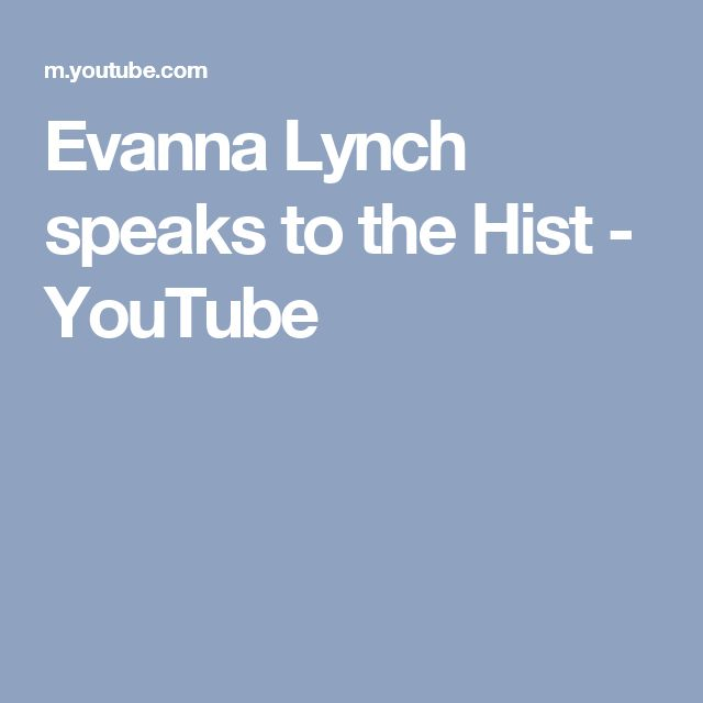 Evanna Lynch speaks to the Hist - YouTube