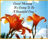 Good Morning! Its Going To Be A Beautiful Day!