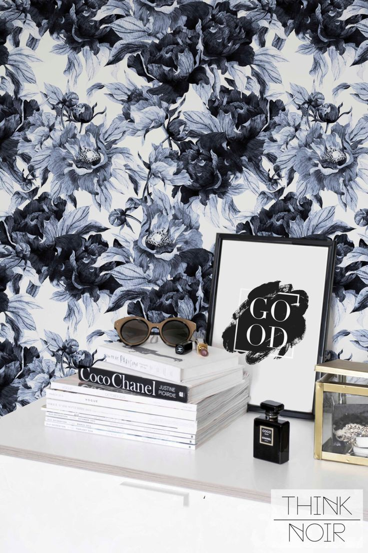 21 best boho walls tropical images on pinterest tropical blue peony self adhesive wallpaper flower removable wallpaper peony pattern wall mural by thinknoirwallpaper
