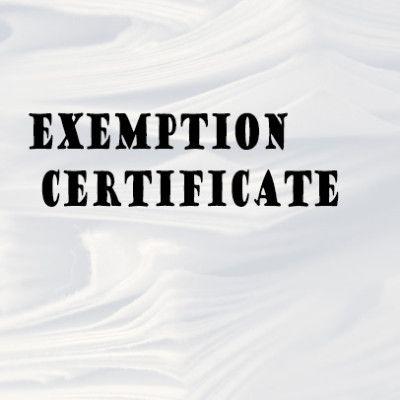 Sales Tax Exemption Certificate